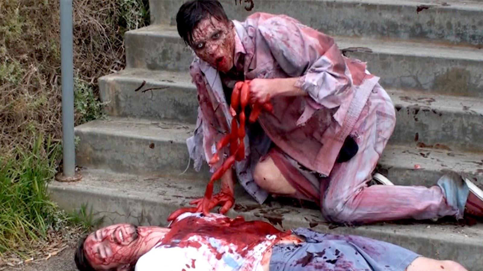 funny zombie prank videos - Funny Halloween Prank