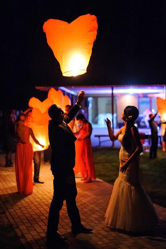 dangaus žibintai per vestuves