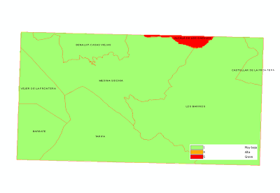 Mapa de peligrosidad por causalidad de incendios forestales