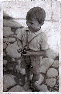 Candelario Salamanca niño en los años 50