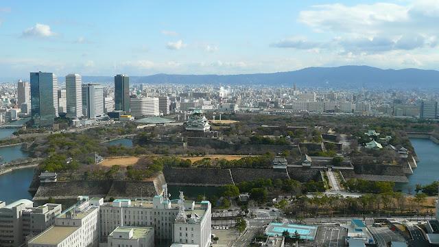 Прекрасный вид на замок Осаки