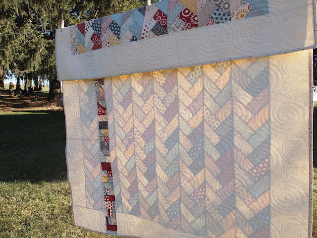 Braided Quilt Border Pattern Home : Craft Room Confidential: Friendship Braid Quilt {Back}