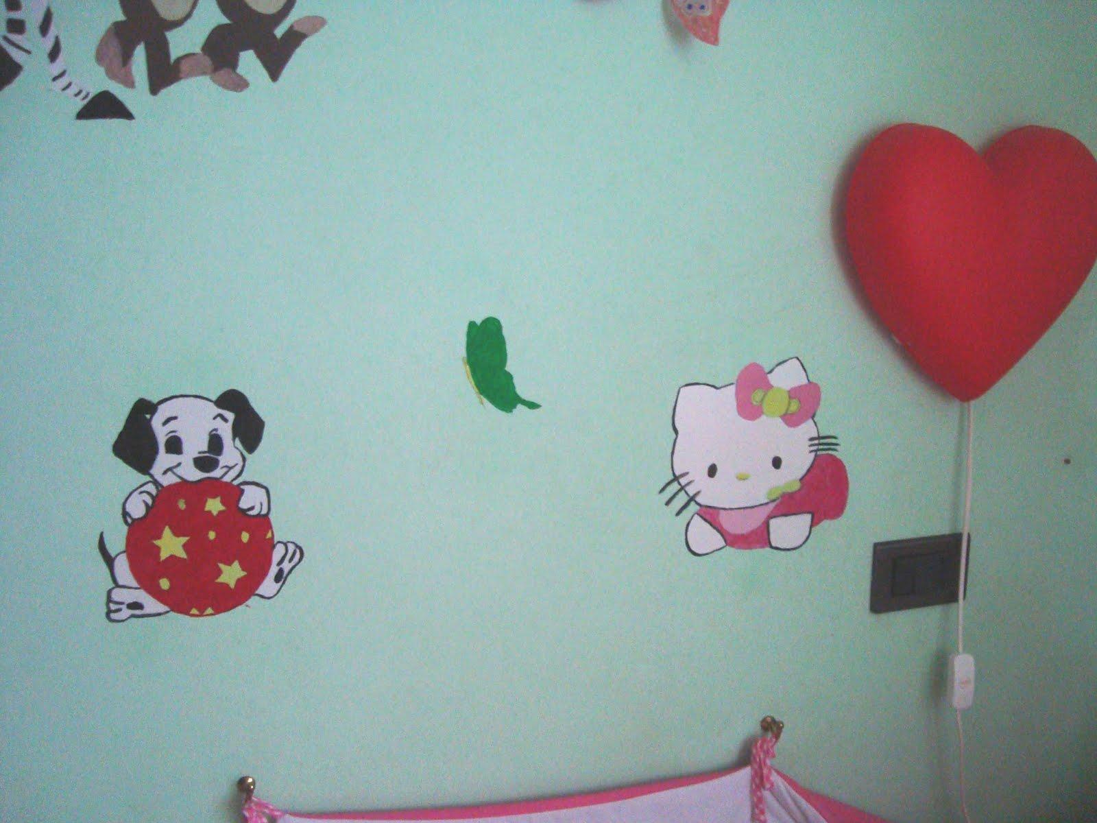 Mamma ed oltre e il riciclo creativo murales e disegni per la cameretta dei bambini tutto fai - Murales cameretta bimbi ...