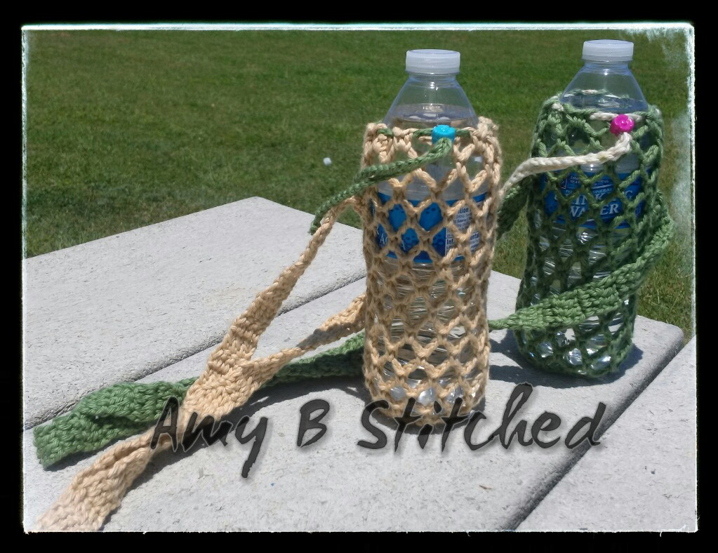 A stitch at a time for amy b stitched water bottle sling free todays pattern i believe compliments it perfectly many times i have been out walking my dog wishing i had thought to grab a bottle of water bankloansurffo Choice Image