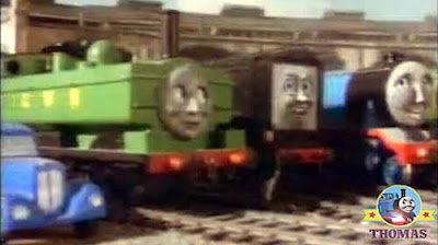 Splendid James the red engine fastest Gordon the big express engine and Henry the green locomotive