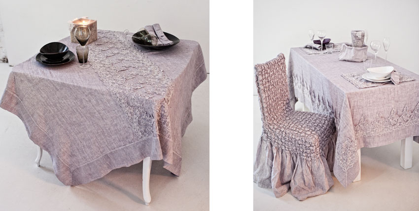 Beadboard UpCountry: Arte Pura, Elegant Table Linen