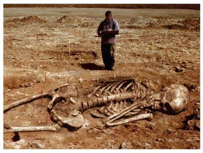 Fotografia de descamació arqueològica del gegants