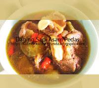 resep daging sapi asam pedas, cara membuat daging sapi asam pedas