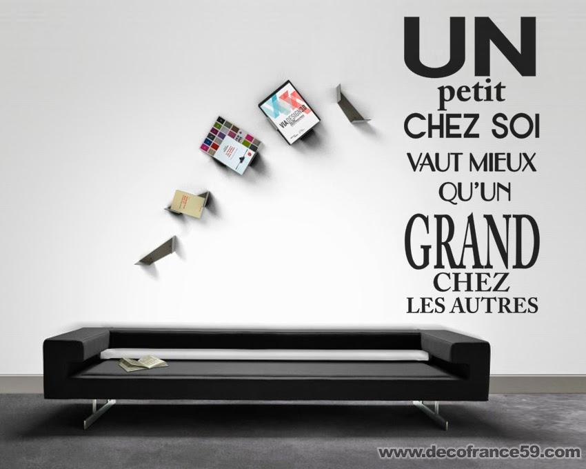Stickers muraux Citations et textes célèbres - Decofrance59.com