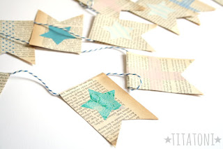Anleitung zum Basteln einer Papierwimpelkette