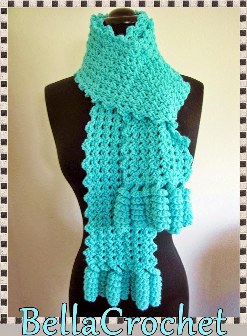 BellaCrochet: Curlicue Cutie Scarf; A Free Crochet Pattern ...