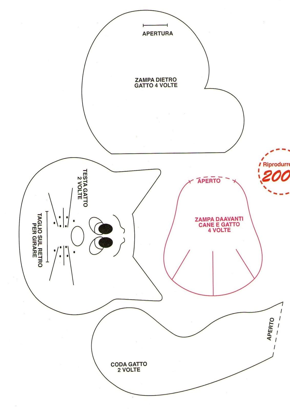 Piccoli hobby di fantasia di ale tre teneri animaletti for Fermaporta cartamodello