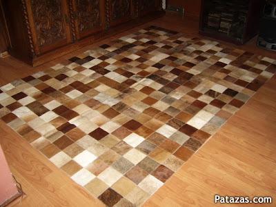 Decoraciones y mas alfombras de cuero en el 2013 for Alfombras de cuero
