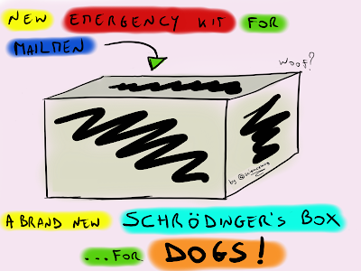 A Schrodinger's box for mailmen_cartoon