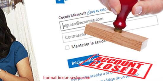hotmail iniciar sesion - cerrar una cuenta