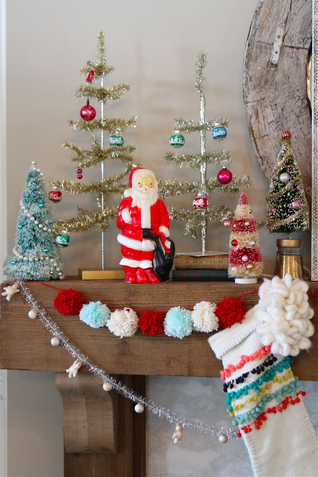 Vintage Christmas Mantel Decorations : Nesting in the bluegrass vintage inspired christmas mantel
