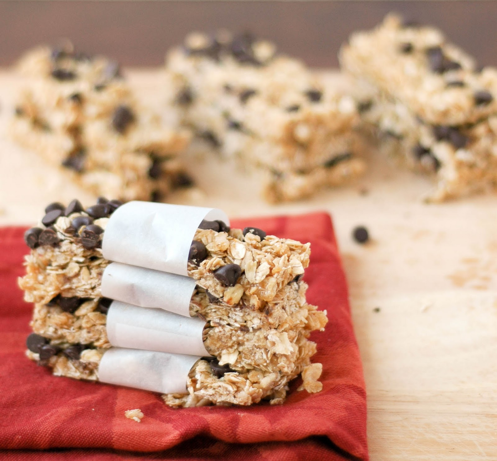 Good Thymes and Good Food: No-Bake Chocolate Chip Granola Bars