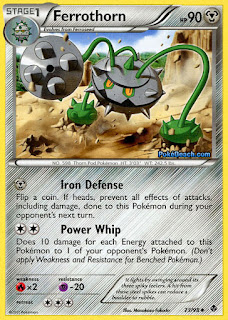 Ferrothorn Emerging Powers Pokemon Card