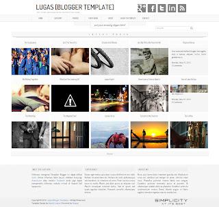 Lugas - Free Premium Gallery Blogger Template