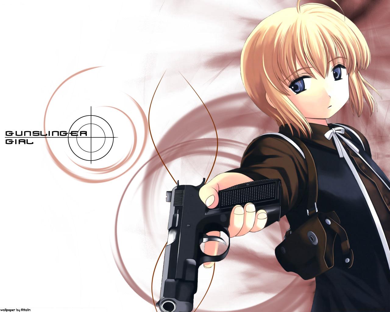 Wallpaper de rico un personaje de el anime gunslinger girl