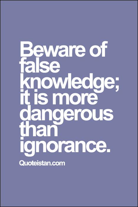 knowledge vs ignorance