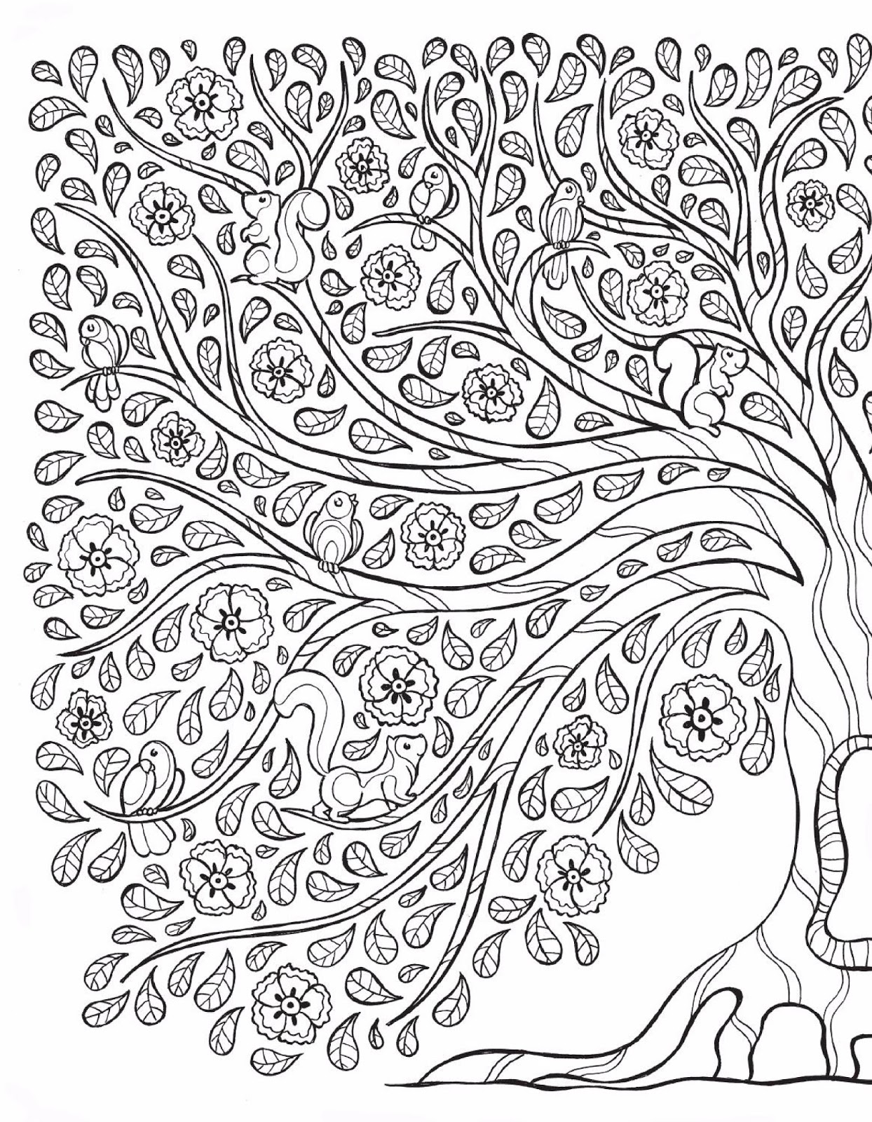 Coloring Book Pages Alice In Wonderland