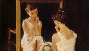 "Norman Rockwell's ""Girl in the Mirror"""