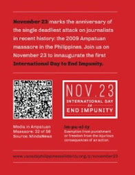 November 23 International Day to End Impunity