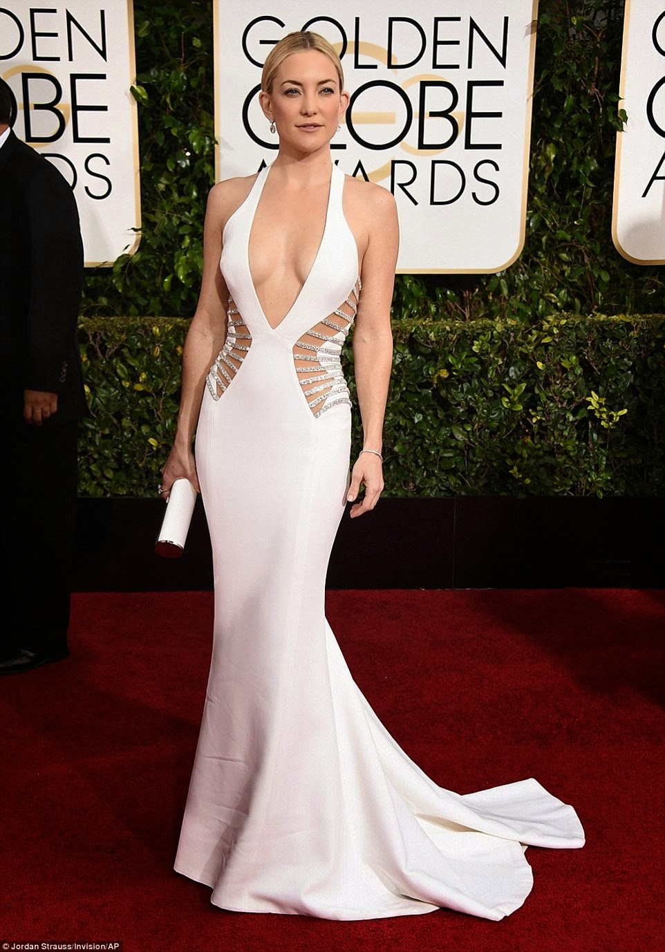 red carpet, luxe, Golden Globes Awards, dress, Esencia Tendy, look, Asesoria De Imagen y Protocolo, Protocolo, Personal Shopper, Kate Hudson, jewels,