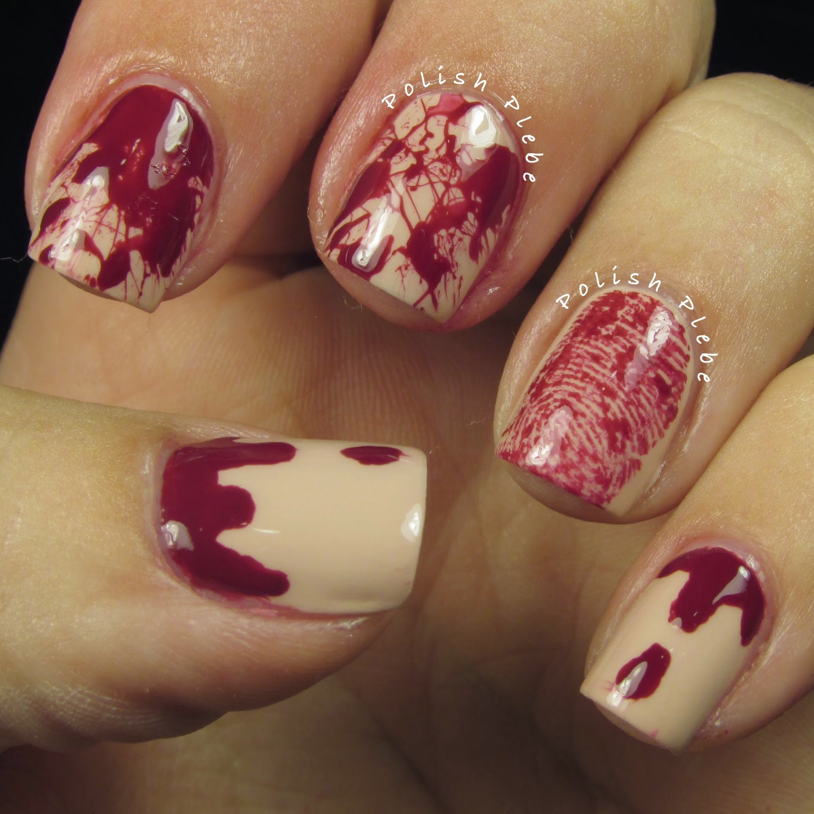 Nails Art: What a Bloody Mess! Nail Art Design