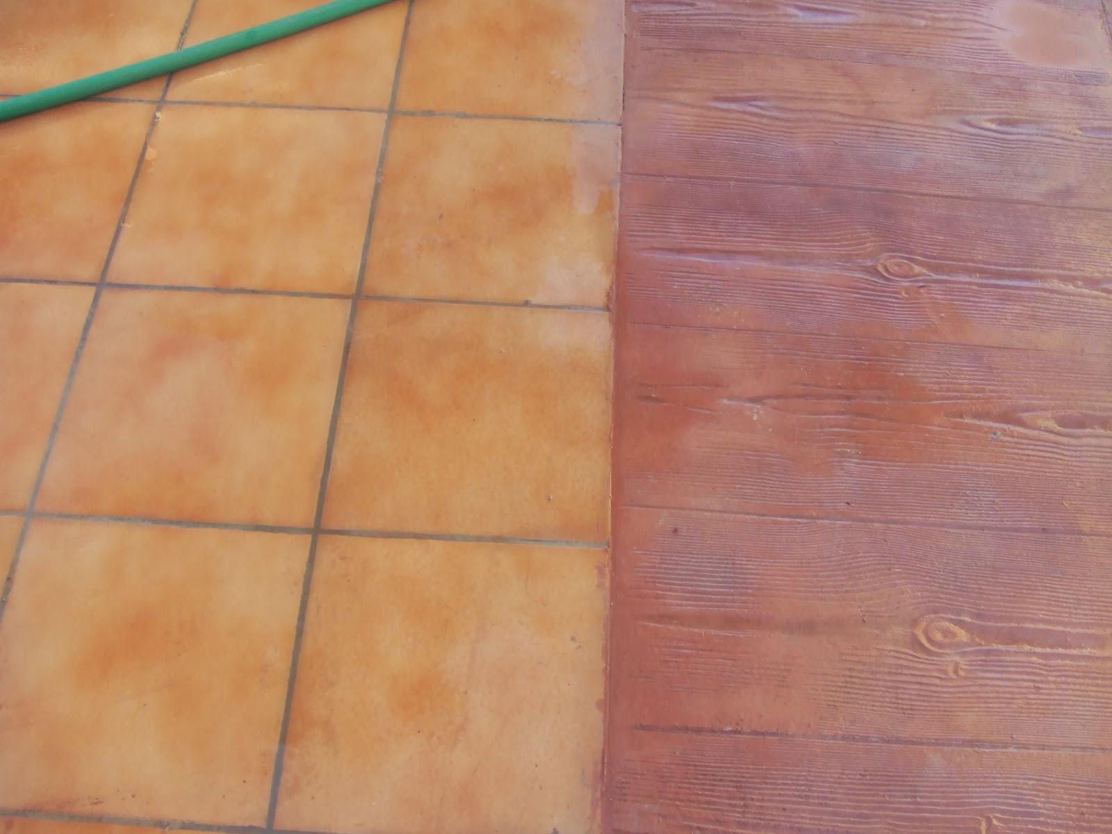 Hormig n impreso en la eliana baldosa de 60x60 con madera for Colocar baldosas sobre hormigon