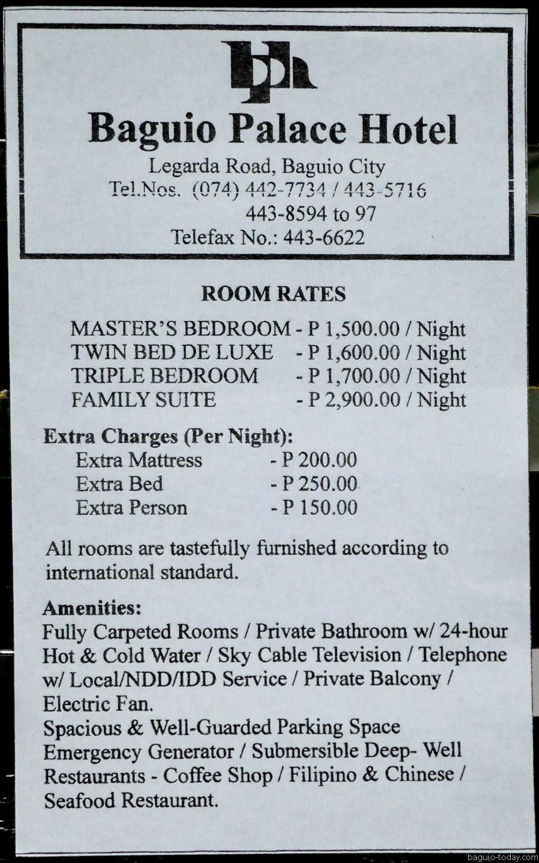 Baguio Palace Hotel June 2017