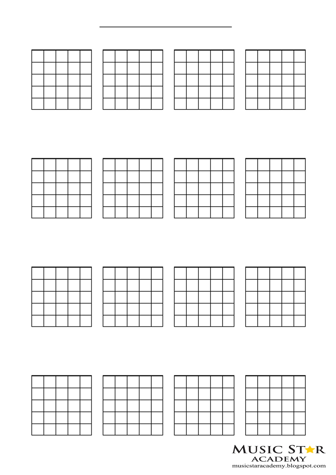 It's just a graphic of Invaluable Printable Blank Guitar Chord Chart