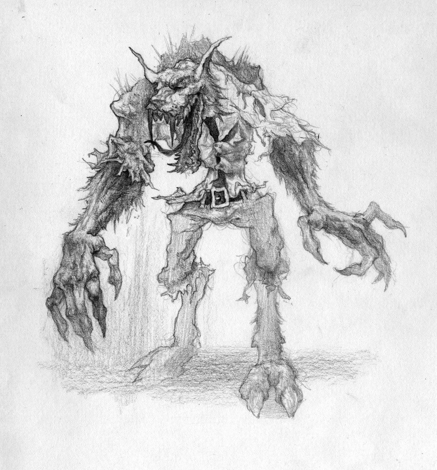 Simple werewolf sketch