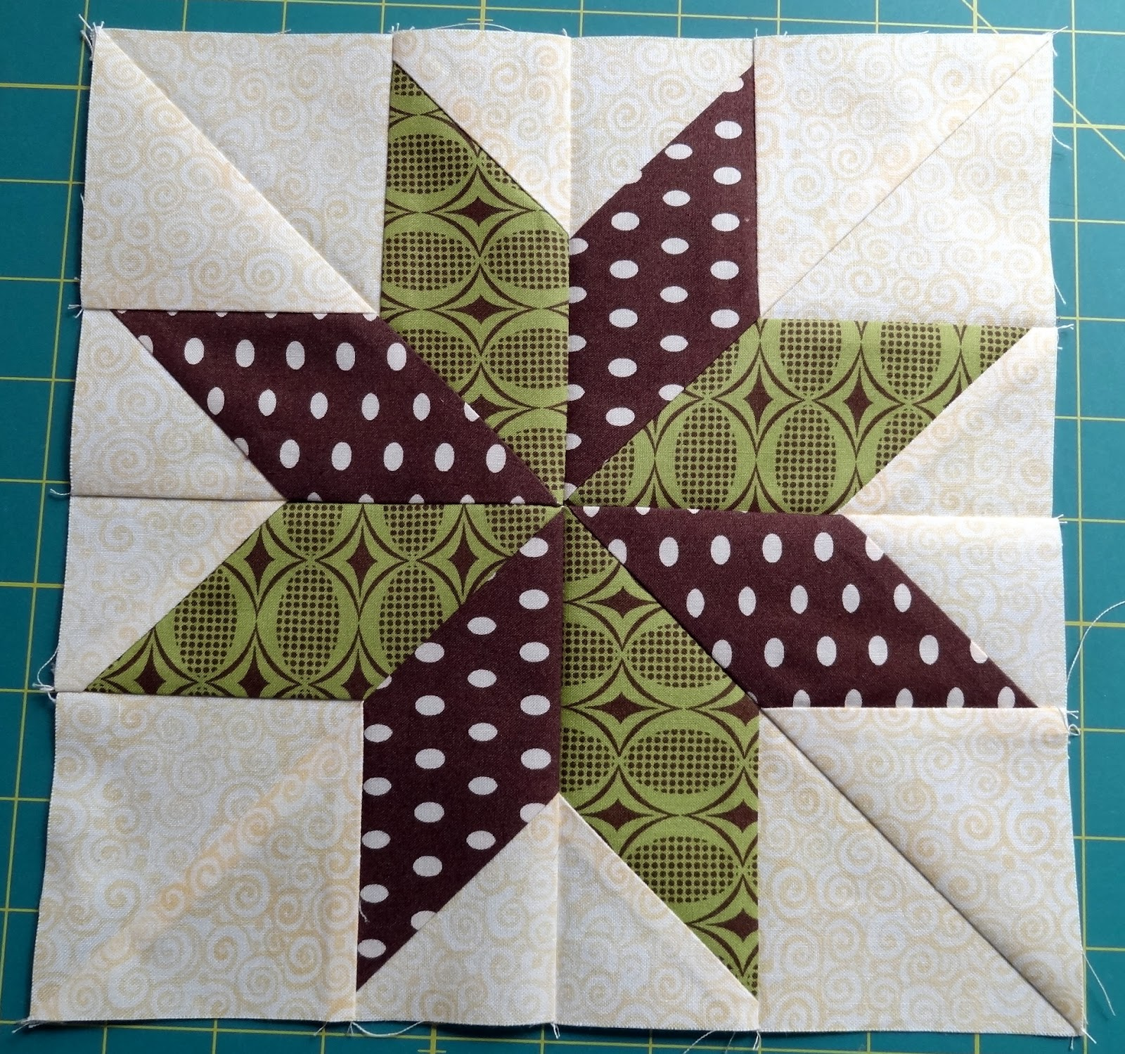 Squash House Quilts No Y Seams 8 Point Star Tutorial