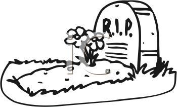 ... _and_White_Cartoon_Grave_with_RIP_on_the_Headstone_clipart_image.jpg