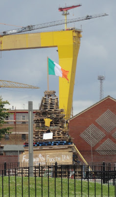 Pitt Park bonfire in East Belfast