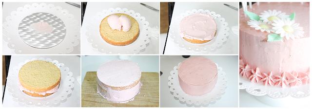 paso a paso decoración tarta de cumpleaños niña