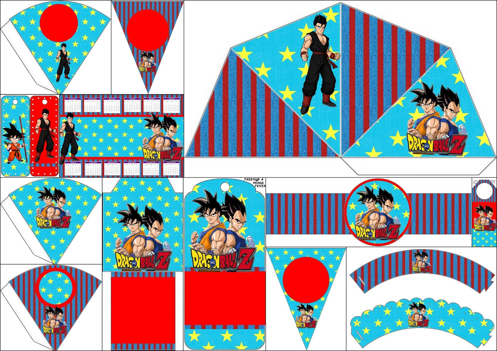 Dragon ball z free party printables oh my fiesta for geeks for Decoration dragon ball