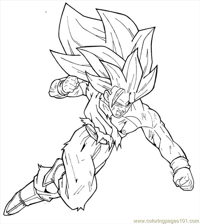 Goku dragon ball coloring pages kids coloring pages for Dragon ball z goku coloring pages