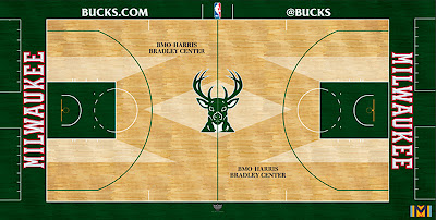 Bucks revealed new court design