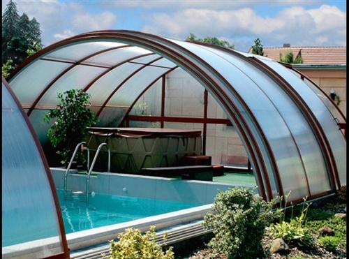Cerramienos y cubierta para piscina habitables for Cubiertas para piscinas madrid