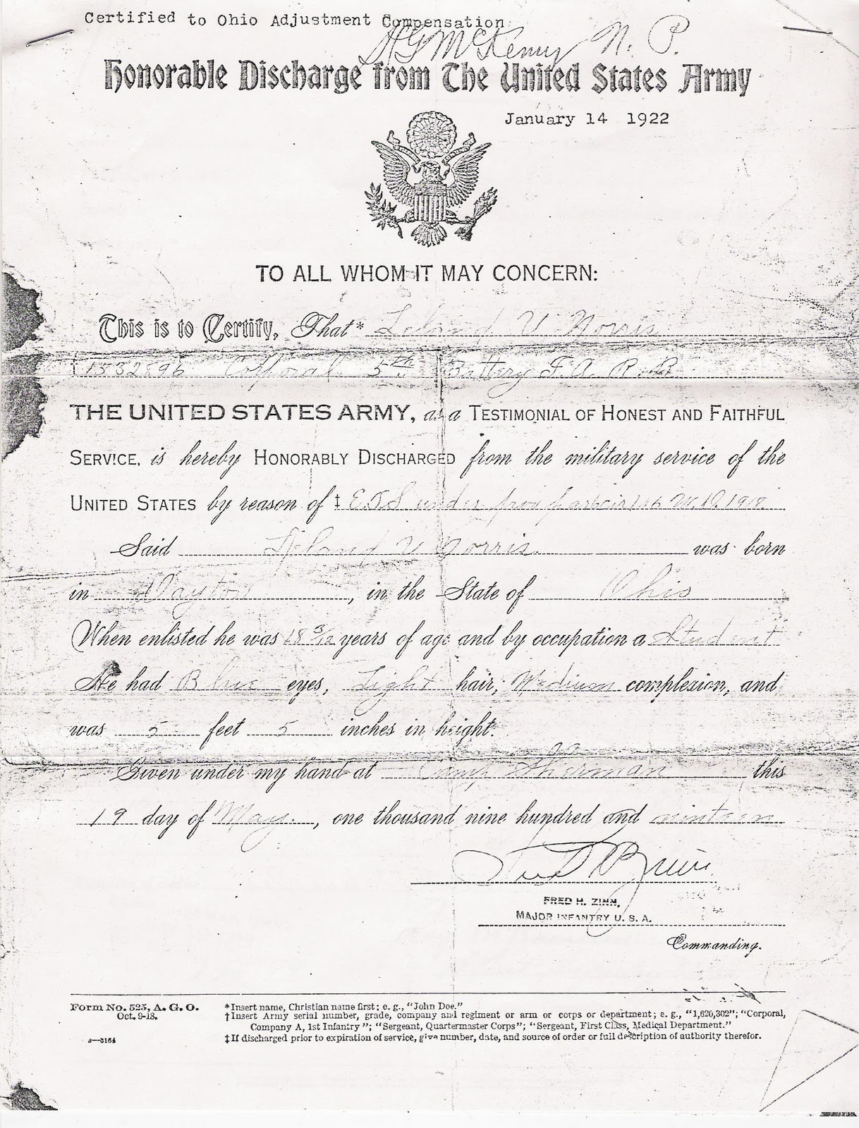 military discharge papers Request for military discharge papers (ors 408420) i am requesting access to and _____ regular / certified copy(ies) of the (number of copies).