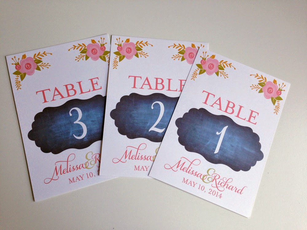 Chalkboard Wedding Table Cards - great for a garden party or rustic wedding