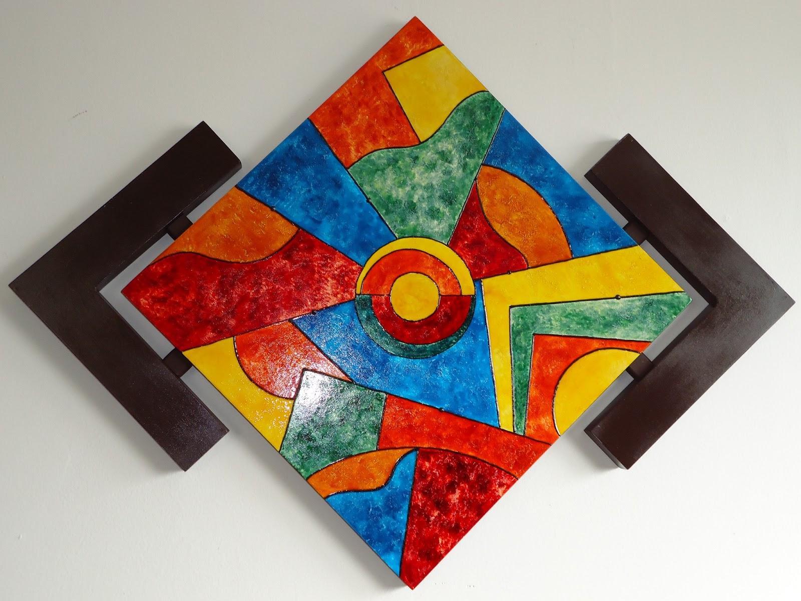 Artes y manualidades cuadros abstractos - Manualidades faciles cuadros ...