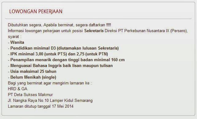 lowongan-kerja-bumn-semarang-terbaru-mei-2014