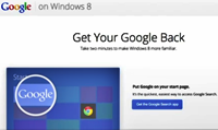 Windows 8: Get Your Google and Chrome Back