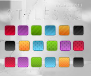 حزمة ستايلات الفوتوشوب الساطعة المجموعة الاولة bright styles pack 1 Arab-Design