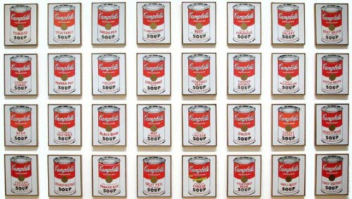 """Andy Warhol, """"Campbell's Soup Cans,"""" 1962"""