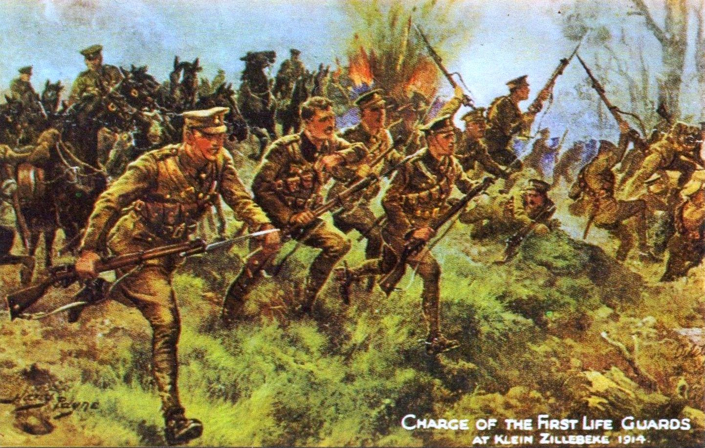 1st Life Guards charge at Klein Zillebeke 1914